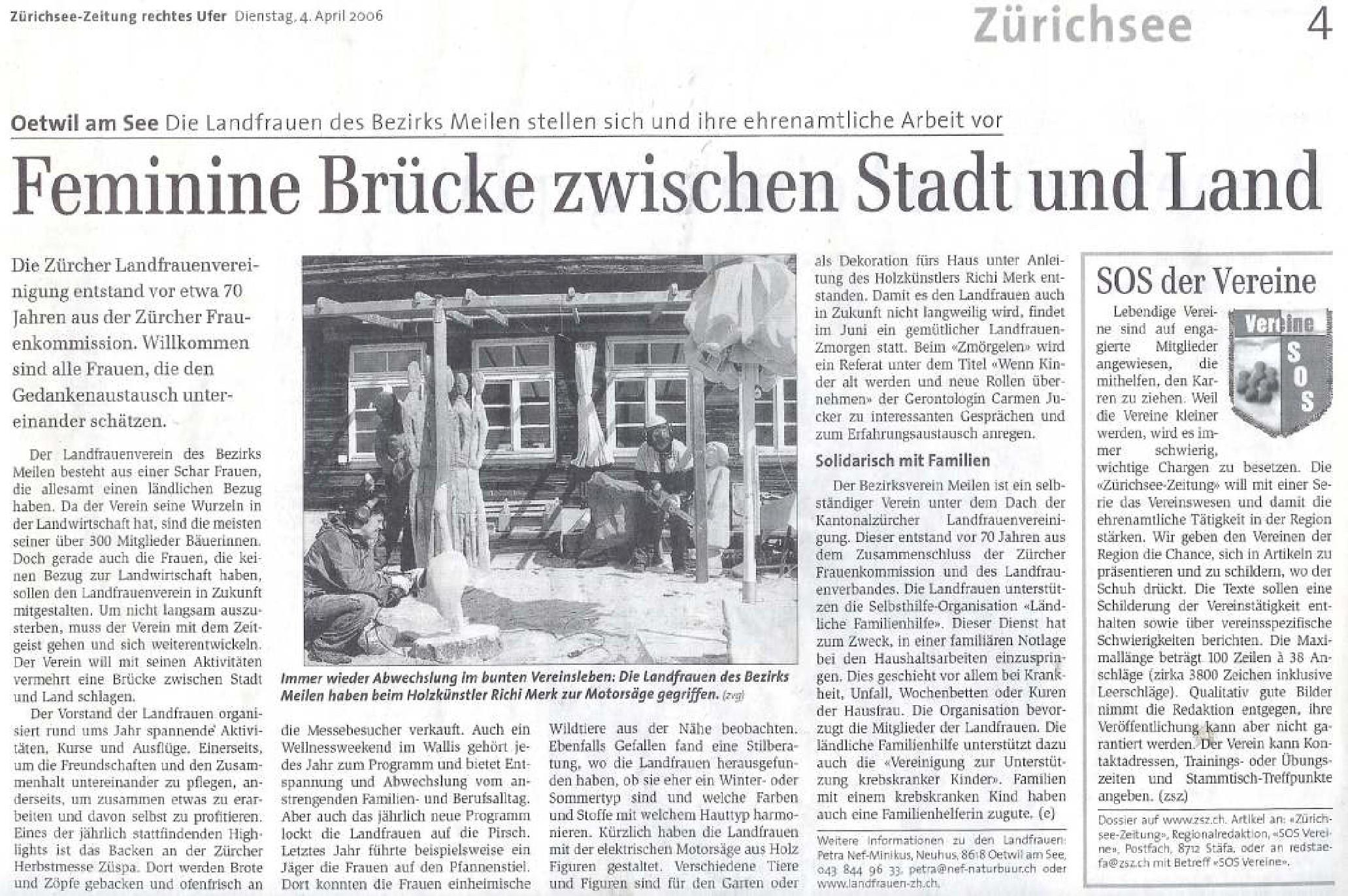 Zürichsee-Zeitung 4. April 2006