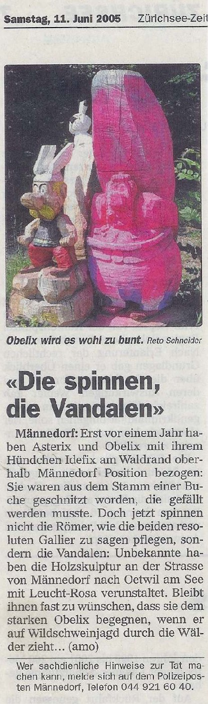 Zürichsee-Zeitung 11. Juni 2005