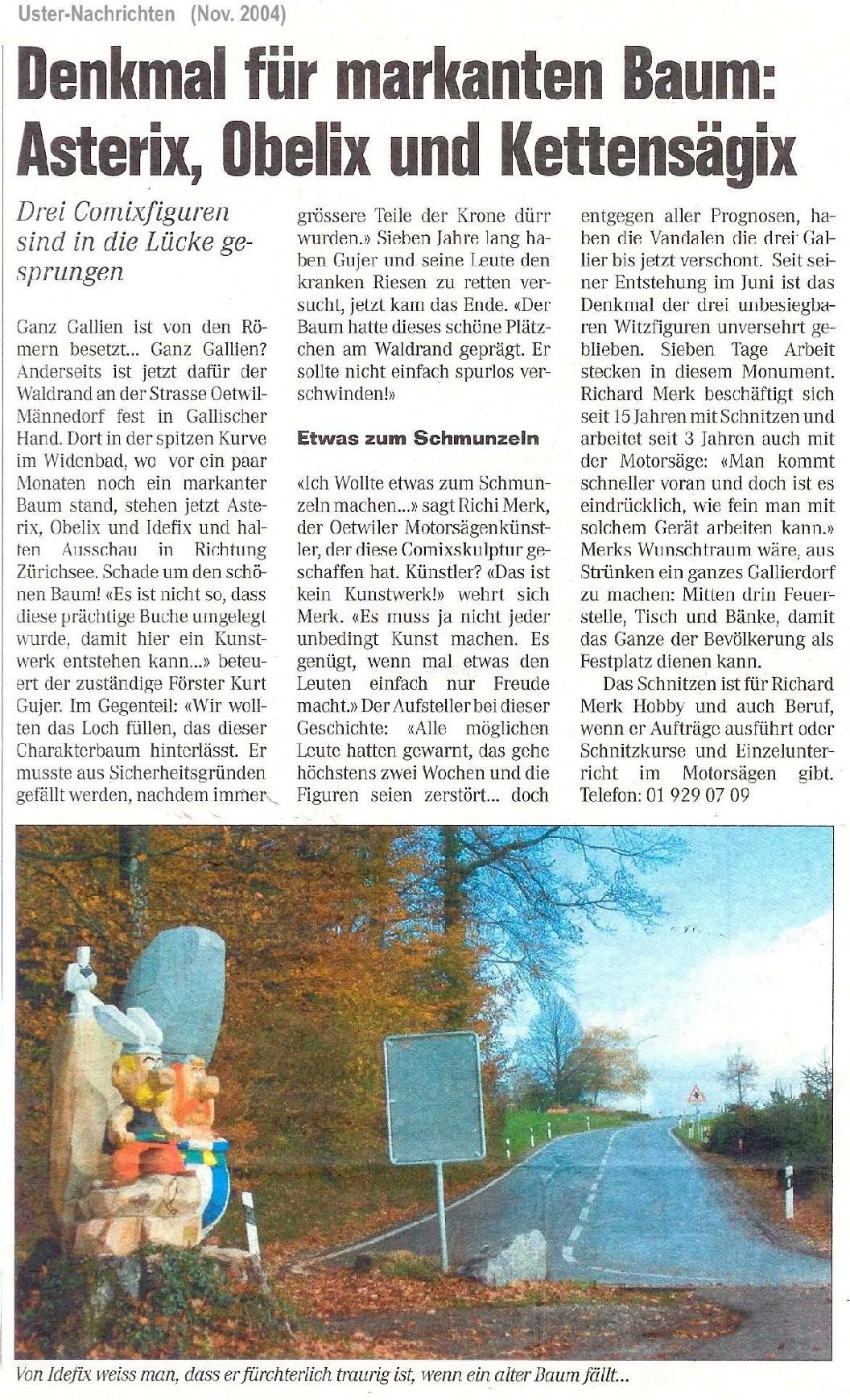 Uster-Nachrichten November 2004