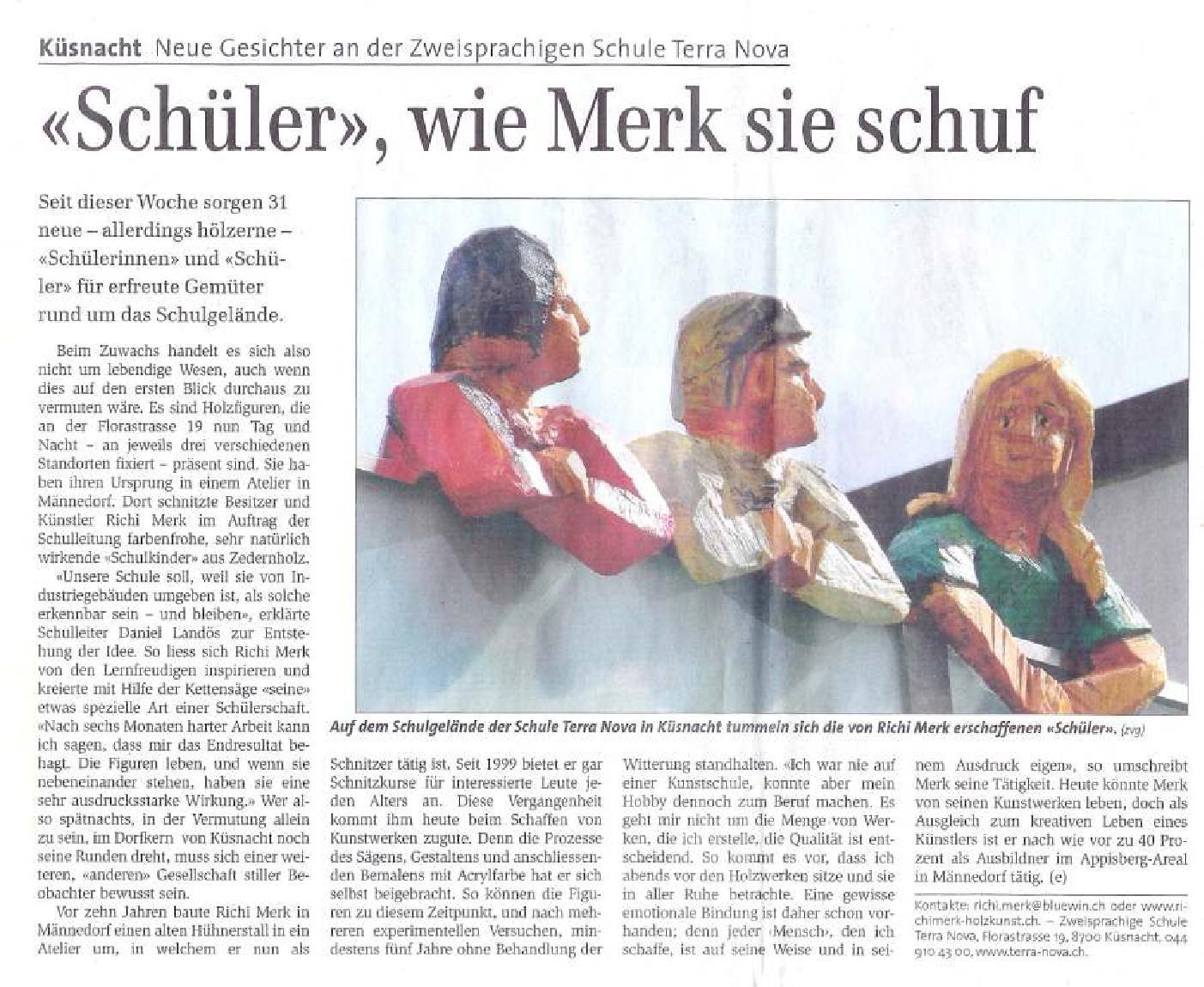 Zürichsee-Zeitung 6. März 2010